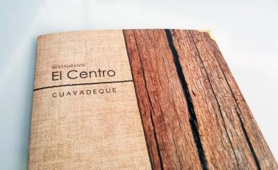 Carta y tarjetas Restaurante El Centro